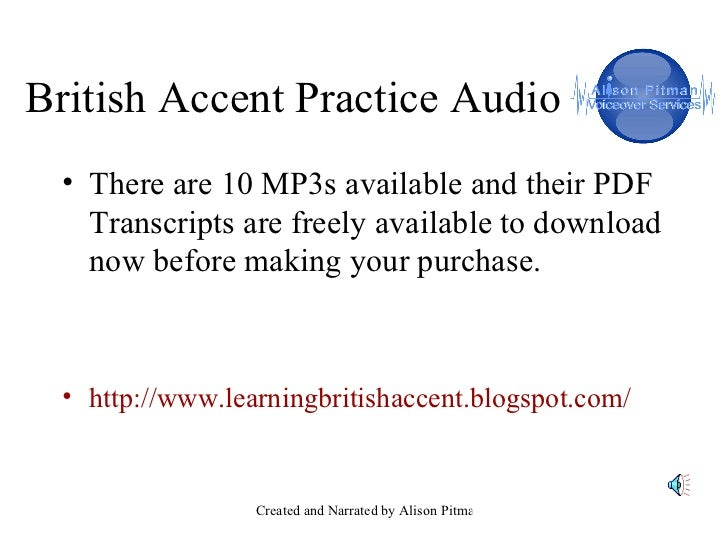 Listening for British Accents