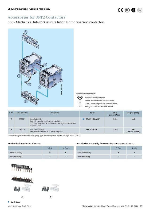 Siemens contactors lp 23 accessories for 3rt2 contactors asfbconference2016 Choice Image