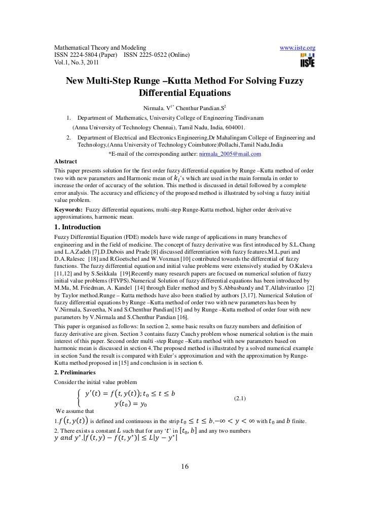 Mathematical Theory and Modeling                                                                         www.iiste.orgISSN...