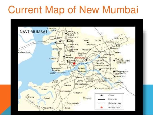 navi mumbai map