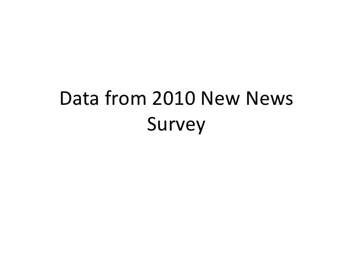 Data from 2010 New News Survey<br />