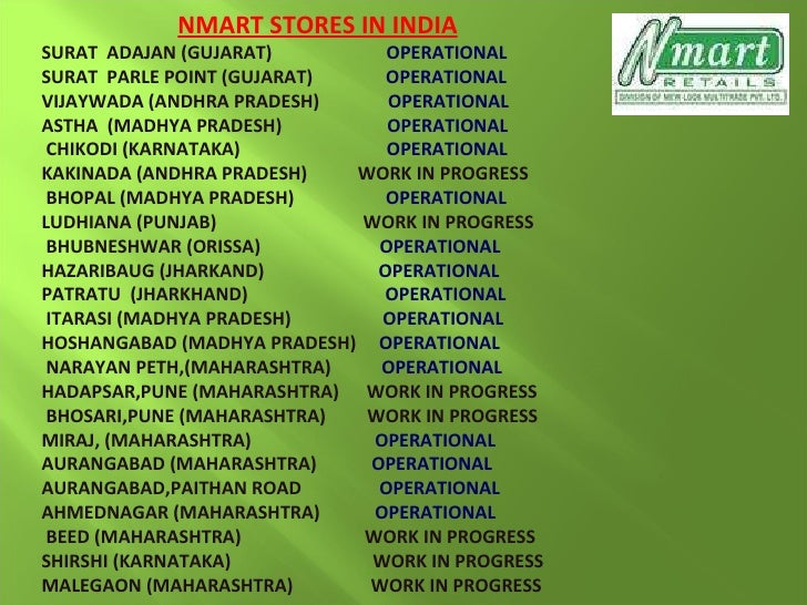 nmart retail business plan