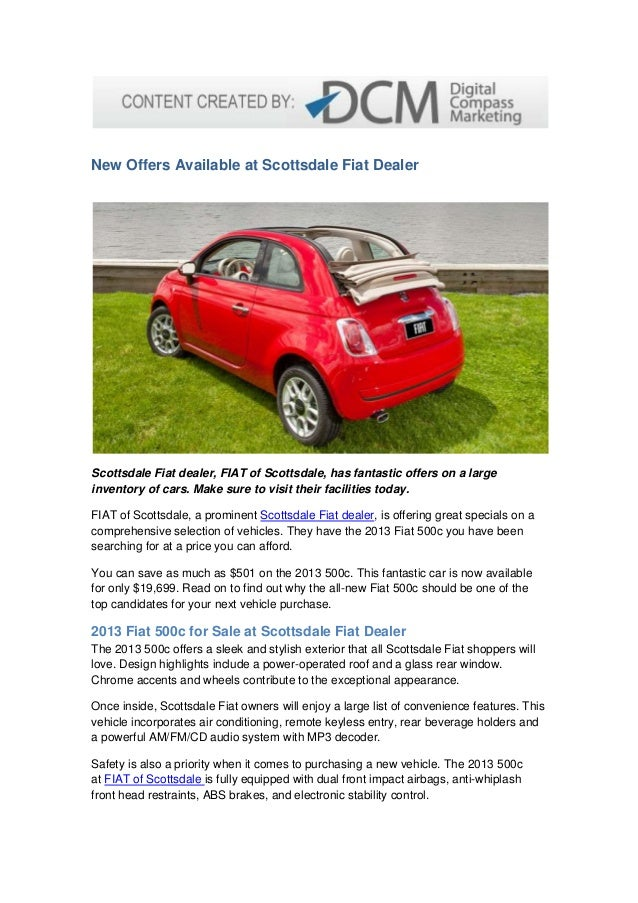 new offers available at scottsdale fiat dealer