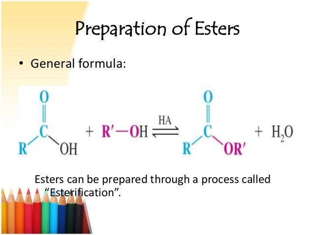 how can the yield of an ester be increased