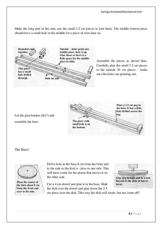 Engineering Mechanical Arm Syringe : Syringe actuated mechanical arm