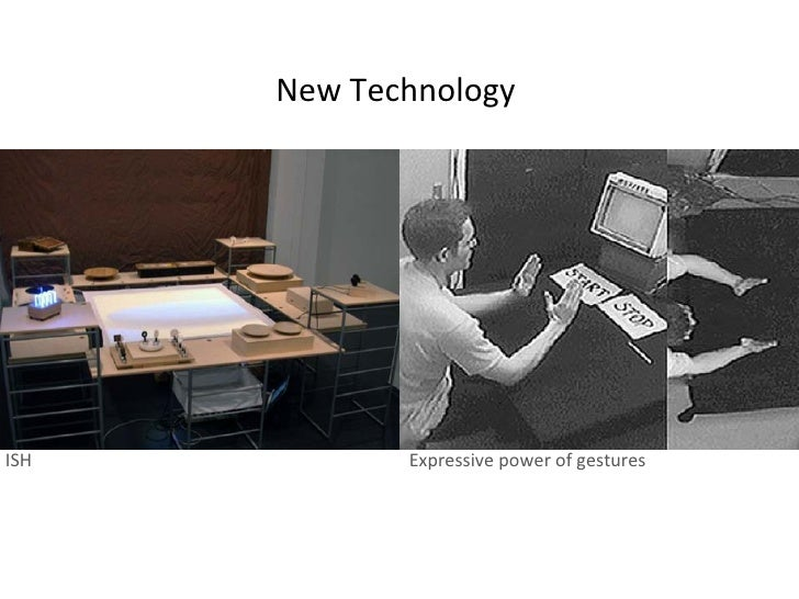 New Technology ISH Expressive power of gestures