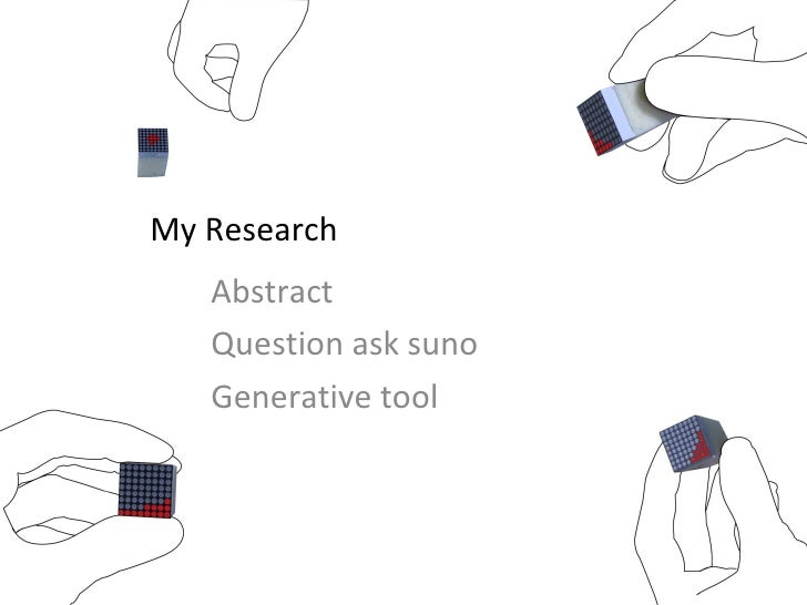 My Research Abstract Question ask suno Generative tool