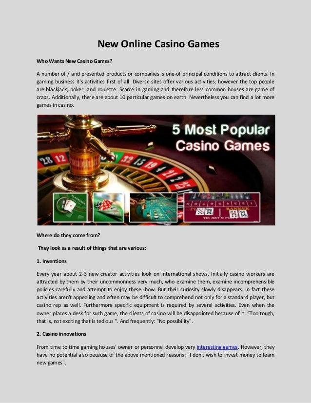 New Free Casino Games