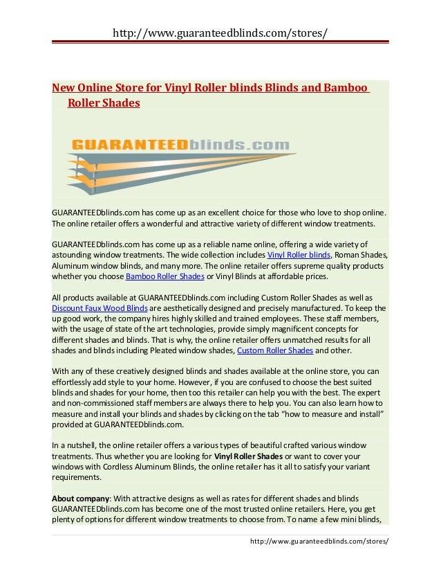 New Online Store For Vinyl Roller Blinds Blinds And Bamboo Roller Sha