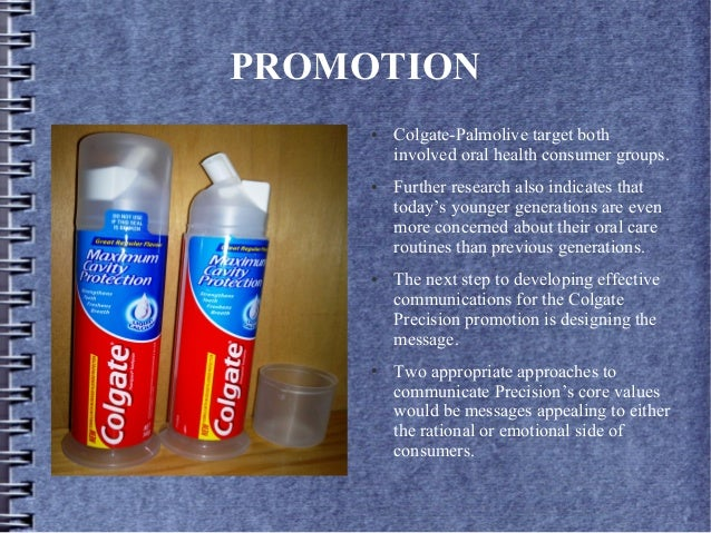 promotion of colgate toothpaste