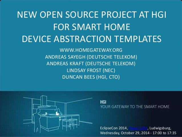 new open source project at hgi for smarthome device. Black Bedroom Furniture Sets. Home Design Ideas