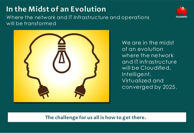 In the Midst of an Evolution Where the network and IT Infrastructure and operations will be transformed We are in the mids...