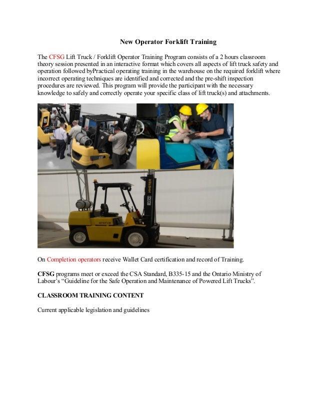 Forklift Training Brampton
