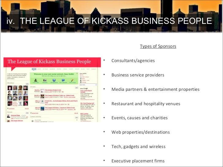 <ul><li>Types of Sponsors </li></ul><ul><li>Consultants/agencies </li></ul><ul><li>Business service providers  </li></ul><...