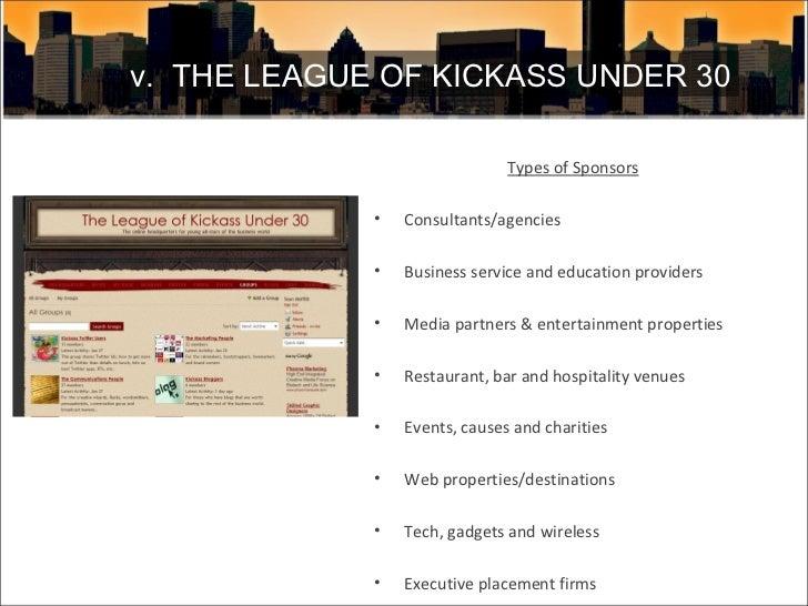 <ul><li>Types of Sponsors </li></ul><ul><li>Consultants/agencies </li></ul><ul><li>Business service and education provider...