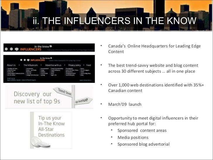 <ul><li>Canada's  Online Headquarters for Leading Edge Content </li></ul><ul><li>The best trend-savvy website and blog con...