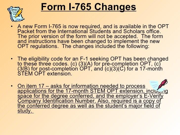 Sample I 765 Form For Opt Extension Dolapgnetband