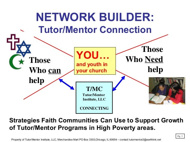 NETWORK BUILDER: Tutor/Mentor Connection T/MC Tutor/Mentor Institute, LLC CONNECTING Those Who Need help Strategies Faith ...
