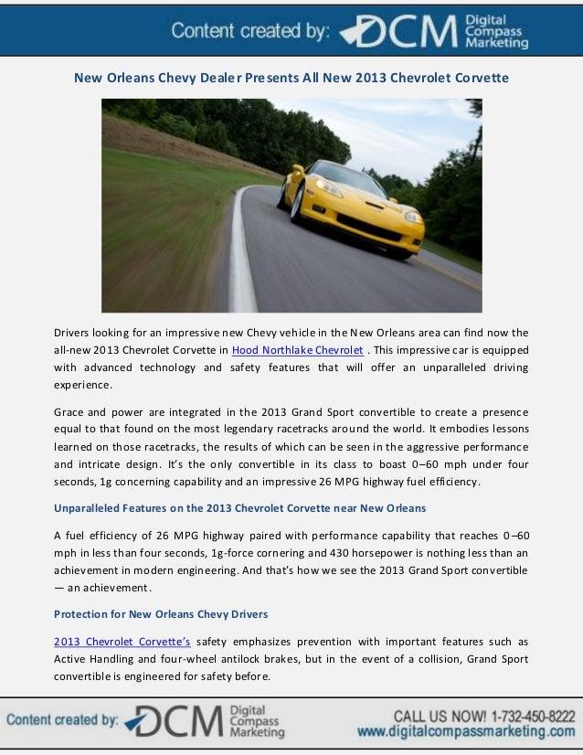 New Orleans Chevy Dealer Presents All New 2013 Chevrolet Corvette