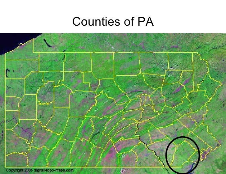 Counties of PA