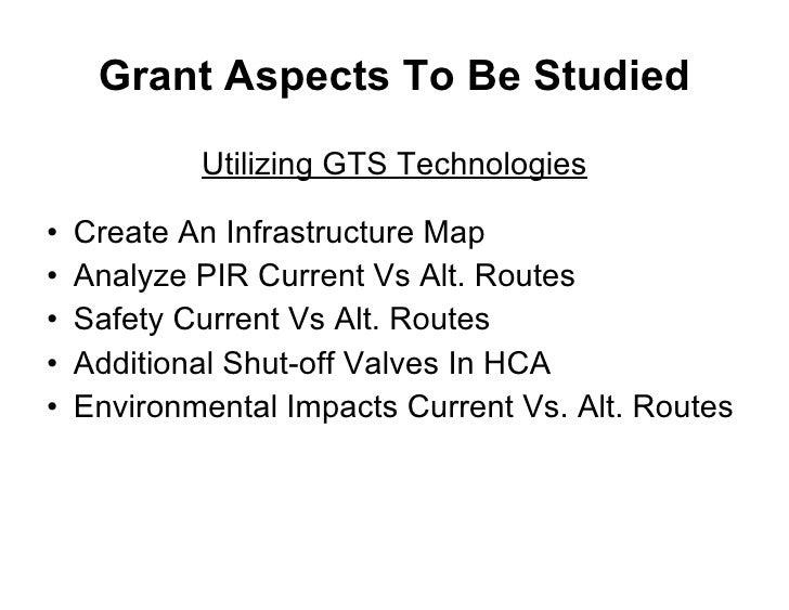 Grant Aspects To Be Studied <ul><li>Utilizing GTS Technologies </li></ul><ul><li>Create An Infrastructure Map </li></ul><u...