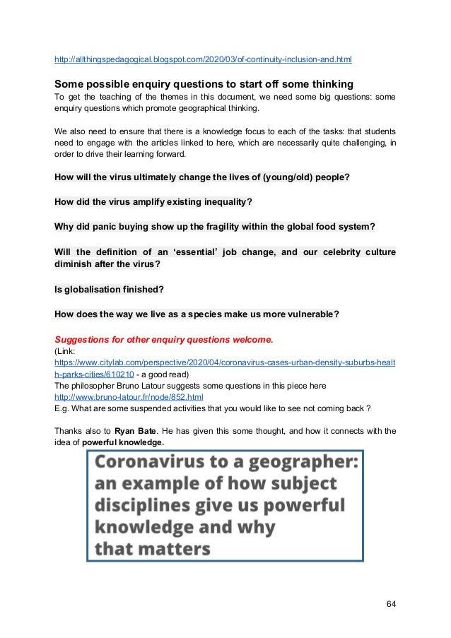 New PC Geographies  (post coronavirus) v3.0
