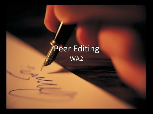 Peer Editing WA2