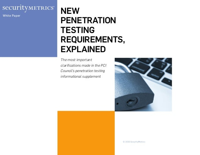 penetration testing requirements