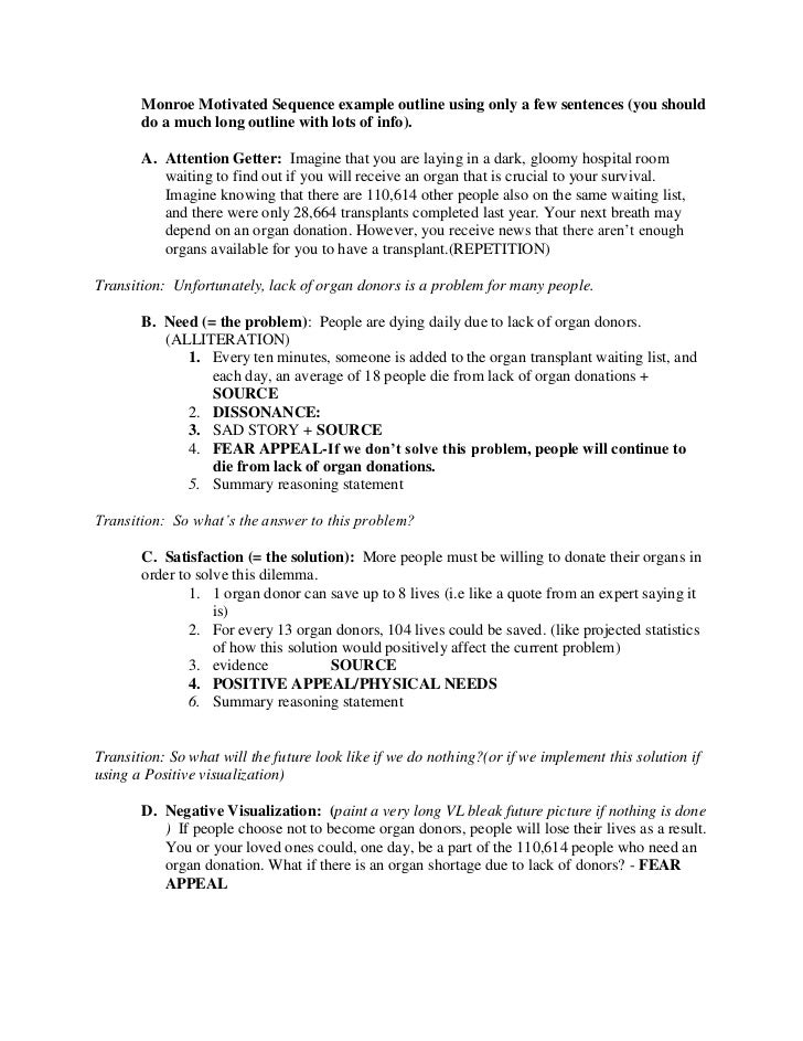 new persuasive speech outline monroe motivated sequence example outline using only a few sentences you should do a much new persuasive speech outline
