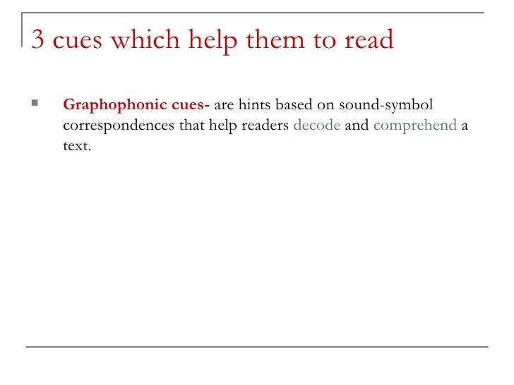graphophonic cues