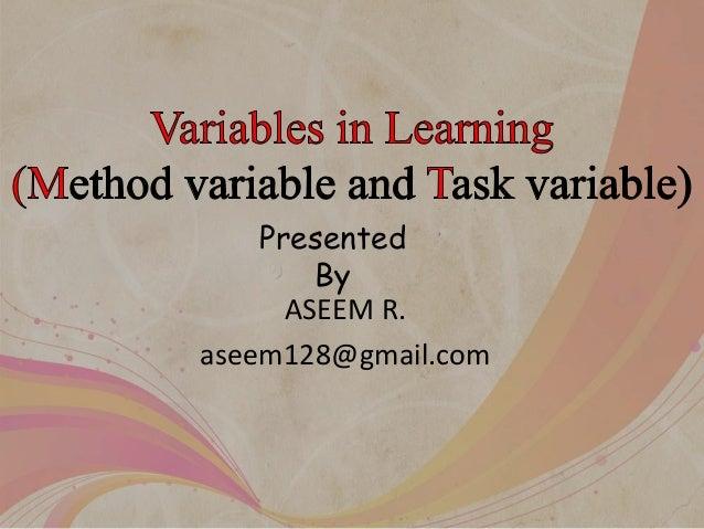 ASEEM R. aseem128@gmail.com Presented By