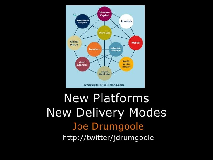 New PlatformsNew Delivery Modes<br />Joe Drumgoole<br />http://twitter/jdrumgoole<br />