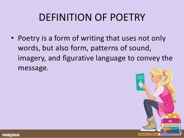 Definition, elements, types, and genres of poetry