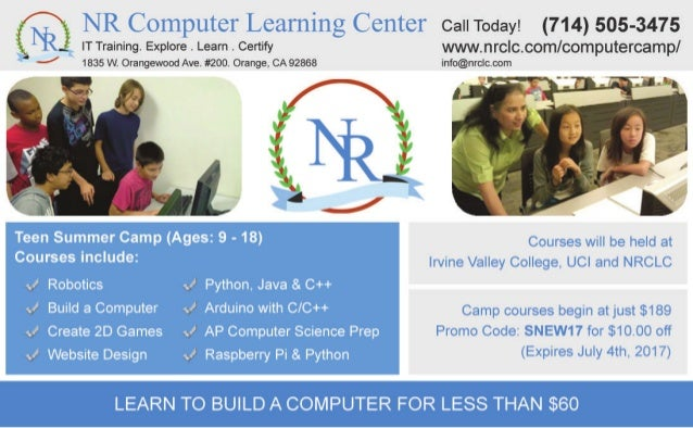 Computer Summer Camp for Kids and Teens