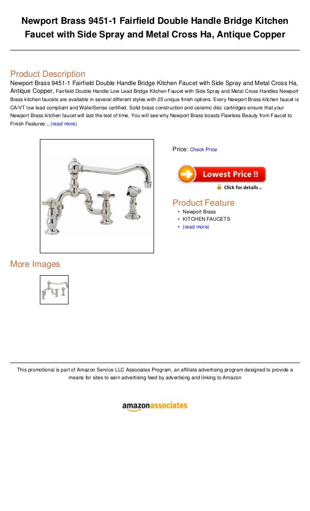 Newport brass 9451 1 fairfield double handle bridge kitchen faucet wi…