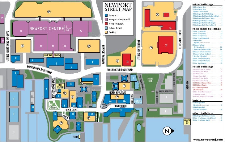 Newport Jersey City Real Estate Master Plan Development Map - Map of jersey city