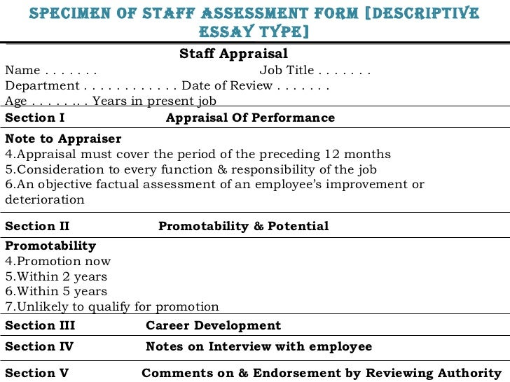 Staff Appraisal Name . . . . . . . Job Title . . . . . . .  Department . . . . . . . . . . . . Date of Review . . . . . . ...