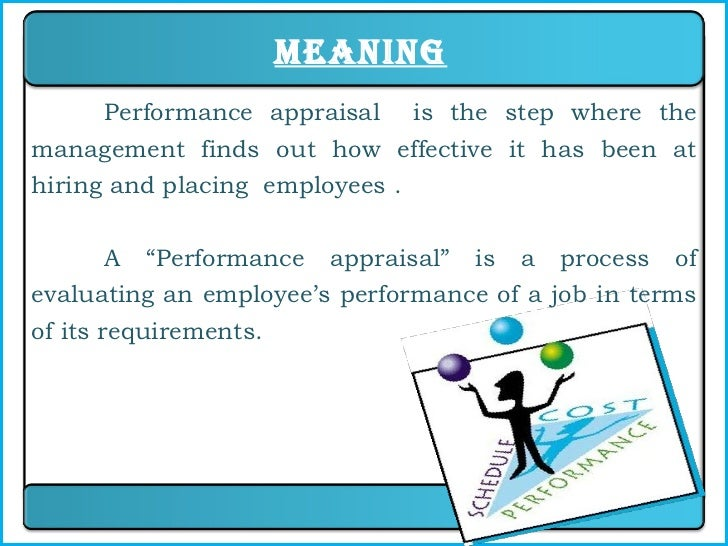 4. Meaning Performance Appraisal Is The Step ...