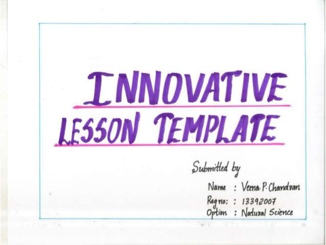 INNOVATIVE LESSON PLAN 1