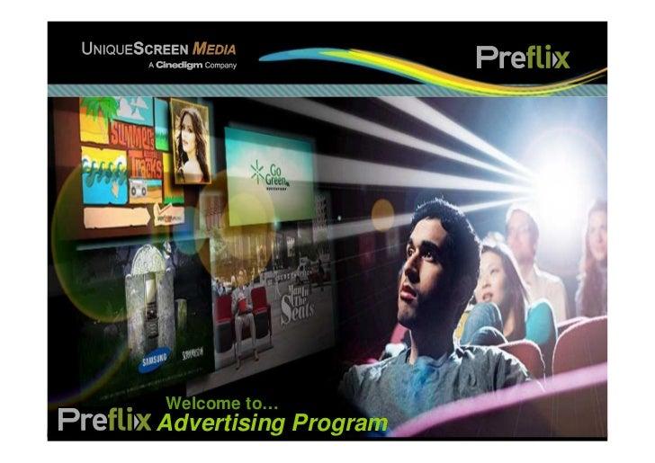 Welcome to…Preflix Advertising Program