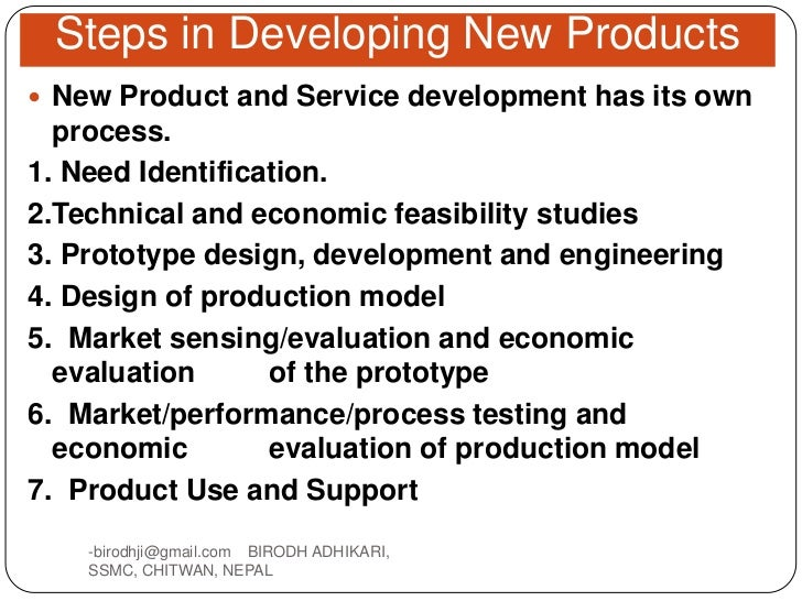 New product design for Product design and development services