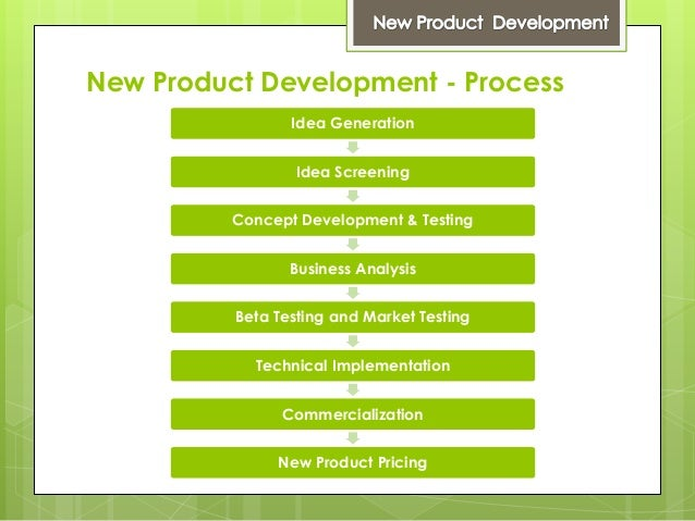 New product development for Company product development