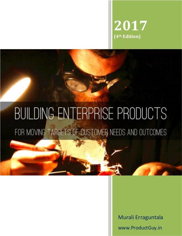 2017 (4th Edition) Murali Erraguntala www.ProductGuy.in