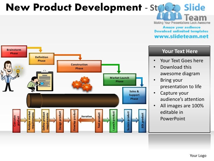 New product development 2 powerpoint presentation slides for New product design