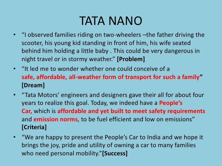 tata nano marketing strategy pdf