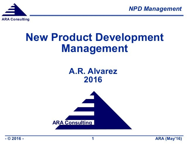 New product development management for Product design and development consultancy