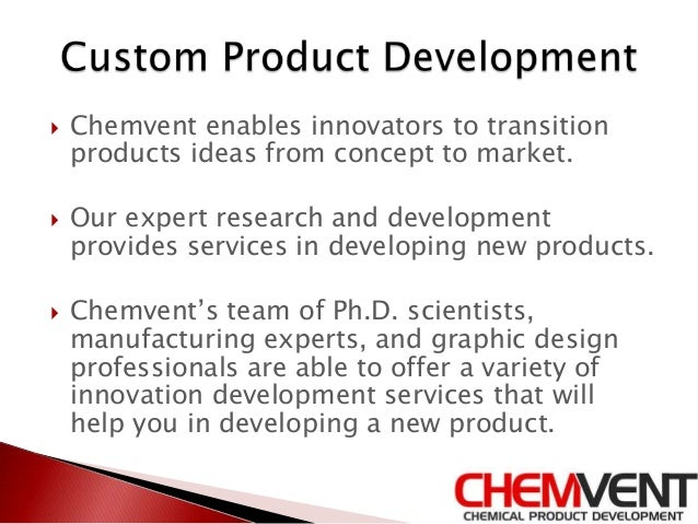 New product development process chemvent for Product design and development services