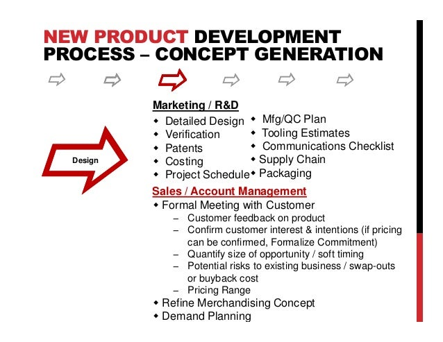 the critical role of sales throughout the new product