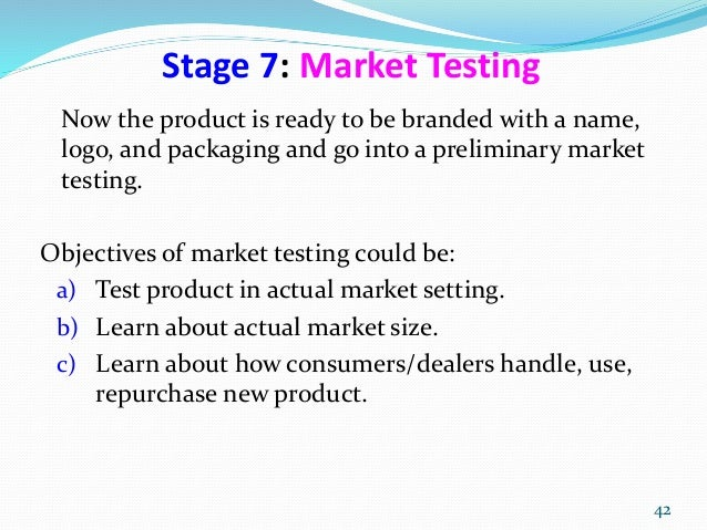 market testing for new product