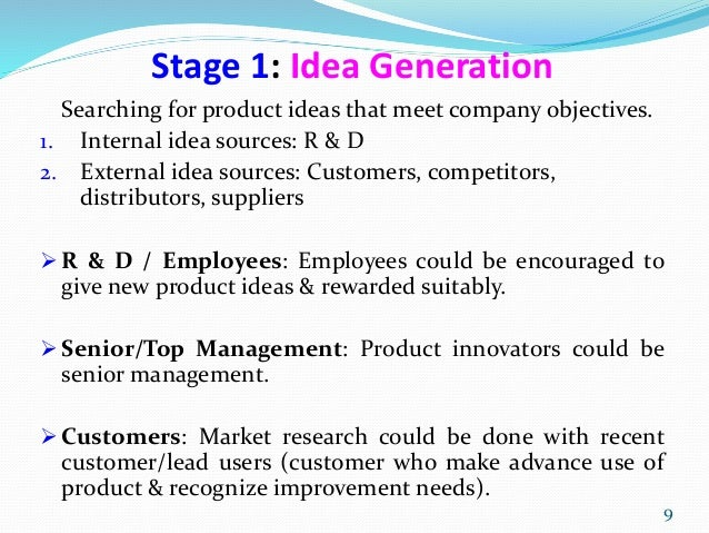 sources of new product development